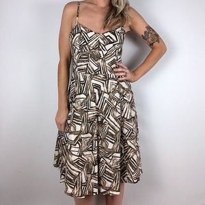 Banana Republic linen abstract dress 2